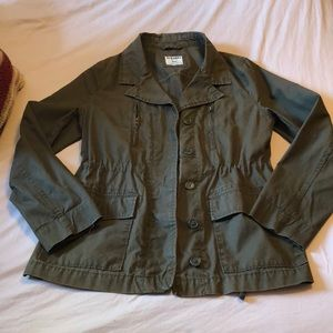 Olive Green jacket.